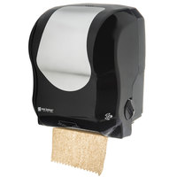 San Jamar T7470BKSS Simplicity Essence Summit Black Stainless Steel Hands Free Paper Towel Dispenser