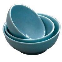 Thunder Group 5990 Blue Jade 74 oz. Round Melamine Soup Bowl - 12/Case