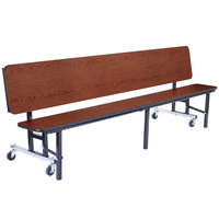 National Public Seating CBG72-PWTMPC 6' Mobile Convertible Bench Unit with T-Molding Edge