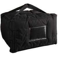 Cambro GBPP518110 Customizable Insulated Black Premium Pizza Delivery GoBag™ - Holds up to (5) 14 inch Pizza Boxes