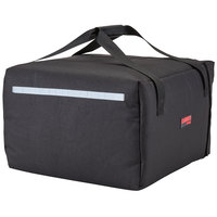 Cambro GBP518110 Insulated Black Pizza Delivery GoBag™ - Holds up to (5) 18 inch or (6) 16 inch Pizza Boxes
