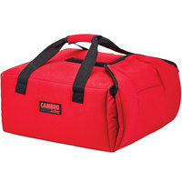 Cambro GBPP214521 Insulated Red Premium Pizza Delivery GoBag™ - Holds up to (2) 14 inch Pizza Boxes