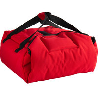 Cambro GBPP214521 Customizable Insulated Red Premium Pizza Delivery GoBag™ - Holds up to (2) 14 inch Pizza Boxes