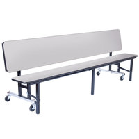 National Public Seating CBG84-PWTMPC 7' Mobile Convertible Bench Unit with T-Molding Edge