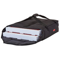 Cambro GBPP218110 Insulated Black Premium Pizza Delivery GoBag™ - Holds up to (2) 18 inch Pizza Boxes