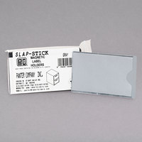 Panter Company IMAGLHGY 4 1/4 inch x 2 1/2 inch Gray Slap-Stick Magnetic Label Holders   - 10/Pack