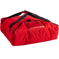 Cambro GBP220521 Insulated Red Pizza Delivery GoBag™ - Holds up to (2) 20 inch or (3) 18 inch Pizza Boxes