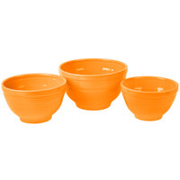 Homer Laughlin 967325 Fiesta Tangerine 3-Piece Prep Baking Bowl Set - 2/Case