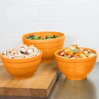 Homer Laughlin 967325 Fiesta Tangerine 3-Piece Prep Baking Bowl Set - 2/Case