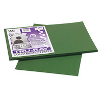 Pacon 103053 Tru-Ray 12 inch x 18 inch Dark Green Smooth Finish 76# Construction Paper - 50/Pack