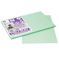 Pacon 103047 Tru-Ray 12 inch x 18 inch Light Green Smooth Finish 76# Construction Paper - 50/Pack