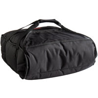 Cambro GBP216110 Insulated Black Pizza Delivery GoBag™ - Holds up to (2) 16 inch or (3) 14 inch Pizza Boxes