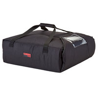 Cambro GBP220110 Insulated Black Pizza Delivery GoBag™ - Holds up to (2) 20 inch or (3) 18 inch Pizza Boxes