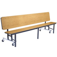 National Public Seating CBG96-PWTMPC 8' Mobile Convertible Bench Unit with T-Molding Edge