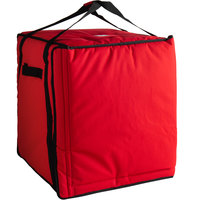 Cambro GBPP1018521 Customizable Insulated Red Premium Pizza Delivery GoBag™ - Holds up to (10) 18 inch Pizza Boxes