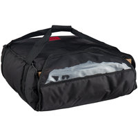 Cambro GBP318110 Insulated Black Pizza Delivery GoBag™ - Holds up to (3) 18 inch or (4) 16 inch Pizza Boxes