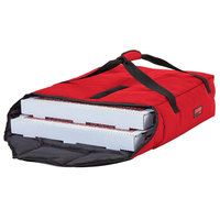 Cambro GBPP218521 Insulated Red Premium Pizza Delivery GoBag™ - Holds up to (2) 18 inch Pizza Boxes