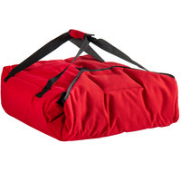 Cambro GBPP218521 Customizable Insulated Red Premium Pizza Delivery GoBag™ - Holds up to (2) 18 inch Pizza Boxes