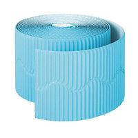 Pacon 37166 2 1/4 inch x 50' Roll Azure Blue Bordette Decorative Border