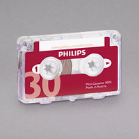 Philips LFH000560 Audio / Dictation 30 Minutes Mini Cassette   - 10/Pack