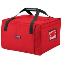 Cambro GBPP518521 Insulated Red Premium Pizza Delivery GoBag™ - Holds up to (5) 18 inch Pizza Boxes