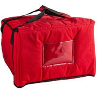 Cambro GBPP518521 Customizable Insulated Red Premium Pizza Delivery GoBag™ - Holds up to (5) 14 inch Pizza Boxes