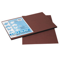 Pacon 103056 Tru-Ray 12 inch x 18 inch Dark Brown Smooth Finish 76# Construction Paper - 50/Pack