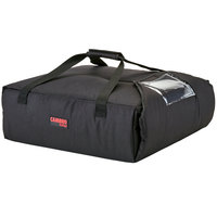 Cambro GBPP212110 Insulated Black Premium Pizza Delivery GoBag™ - Holds up to (2) 12 inch Pizza Boxes