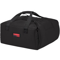Cambro GBPP214110 Insulated Black Premium Pizza Delivery GoBag™ - Holds up to (2) 14 inch Pizza Boxes