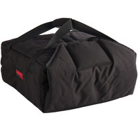 Cambro GBPP216110 Insulated Black Premium Pizza Delivery GoBag™ - Holds up to (2) 16 inch or (3) 14 inch Pizza Boxes
