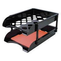 Officemate 21072 Black High Capacity Tray Set - 2/Pack