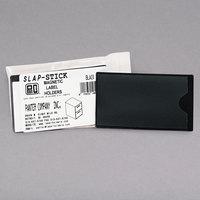 Panter Company IMAGLHBK 4 1/4 inch x 2 1/2 inch Black Slap-Stick Magnetic Label Holders - 10/Pack