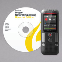 Philips DVT2710 Voice Tracer Black 8 GB Digital Recorder with Speech Recognition Software