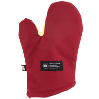 San Jamar KT0212 Cool Touch 13 inch Flame Red Conventional Oven Mitt with Kevlar®