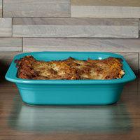 Homer Laughlin 963107 Fiesta Turquoise 9 inch x 13 inch Rectangular Baker - 2/Case