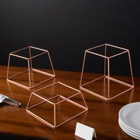 Choice Square Rose Gold Metal 3-Piece Display Stand Set