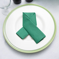 Hunter Green Flat Pack Linen-Like Napkin, 16 inch x 16 inch - Hoffmaster 125032 - 500/Case