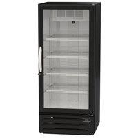 Beverage-Air MMR12HC-1-B MarketMax 24 inch Black Refrigerated Glass Door Merchandiser with LED Lighting