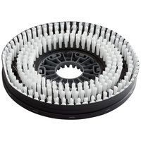 Minuteman 99751510 13 inch White Medium-Duty Disc Brush with Aqua-Stop for E26 Disc Brush Scrubber