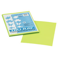 Pacon 103423 Tru-Ray 9 inch x 12 inch Brilliant Lime 50-Sheet Pack of 76# Construction Paper