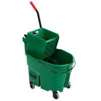 Rubbermaid FG758888GRN WaveBrake® 35 Qt. Green Mop Bucket with Side Press Wringer