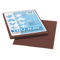 Pacon 103024 Tru-Ray 9 inch x 12 inch Dark Brown 50-Sheet Pack of 76# Construction Paper