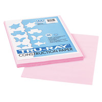 Pacon 103012 Tru-Ray 9 inch x 12 inch Pink 50-Sheet Pack of 76# Construction Paper