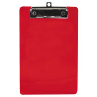 Saunders 00518 1/2 inch Capacity 9 inch x 6 inch Red Recycled Plastic Clipboard with Ruler Edge