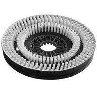 Minuteman 7514 15 inch White Light-Duty Disc Brush with Aqua-Stop for E30 Disc Brush Scrubbers