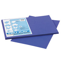 Pacon 103049 Tru-Ray 12 inch x 18 inch Royal Blue 50-Sheet Pack of 76# Construction Paper