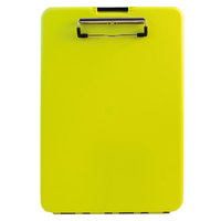 Saunders 00573 SlimMate 1/2 inch Capacity 11 inch x 8 1/2 inch Hi-Visibility Yellow Storage Clipboard