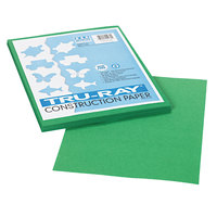Pacon 102960 Tru-Ray 9 inch x 12 inch Holiday Green 50-Sheet Pack of 76# Construction Paper