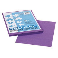 Pacon 103009 Tru-Ray 9 inch x 12 inch Violet 50-Sheet Pack of 76# Construction Paper