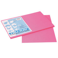 Pacon 103045 Tru-Ray 12 inch x 18 inch Shocking Pink 50-Sheet Pack of 76# Construction Paper